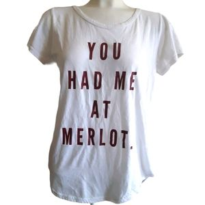 TBH | You had me at Merlot wine letter graphic tee